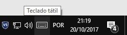 botão barra notificações