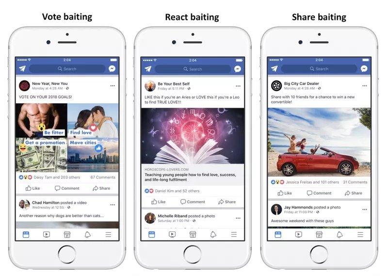 facebook mensagens spam