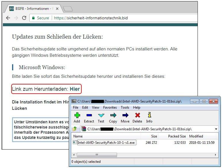 exemplo malware meltdown