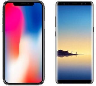iphone x vs samsung galaxy