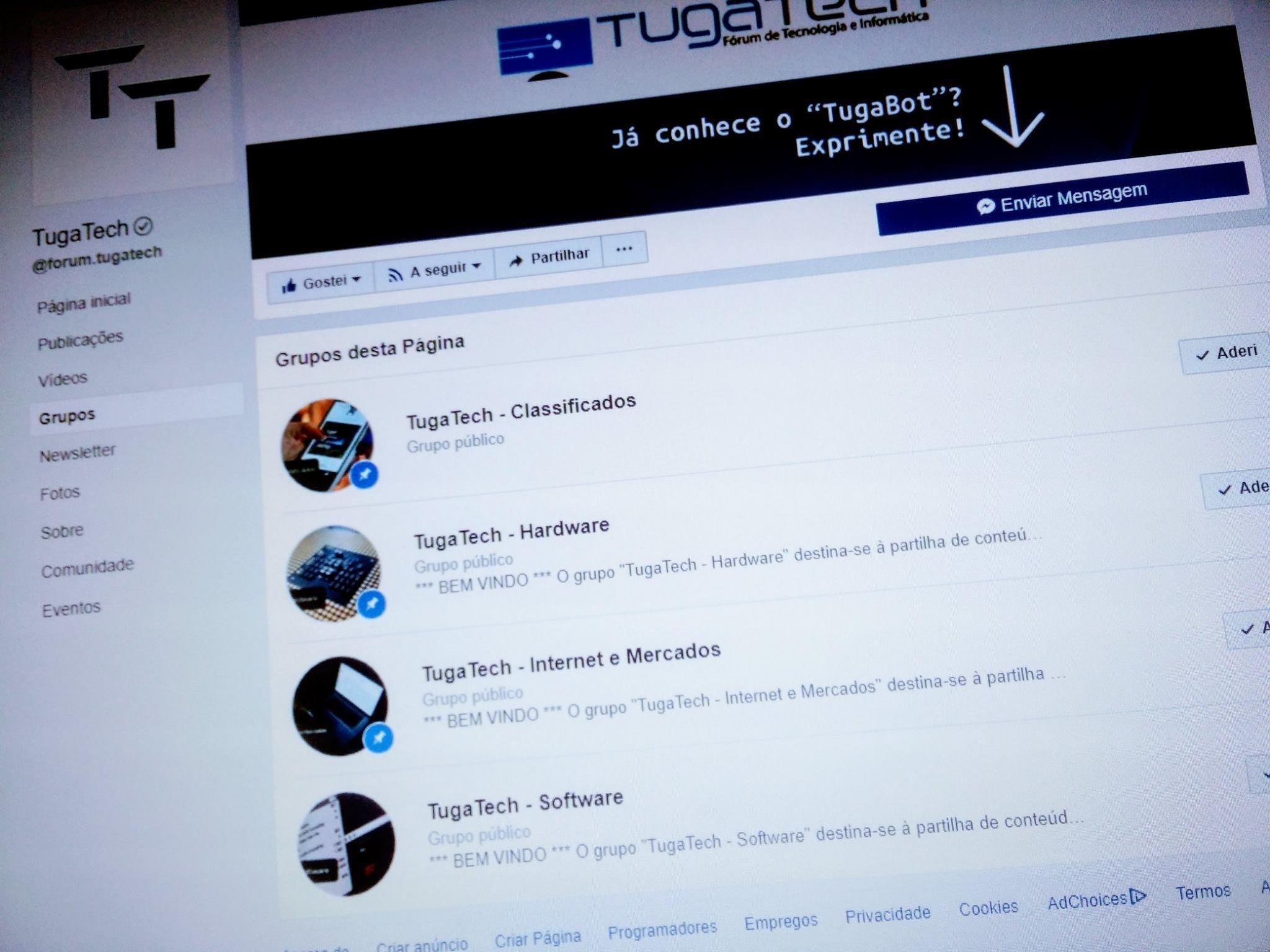 facebook grupos tugatech