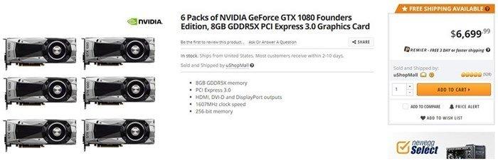 pack graficas 1080 nevidia