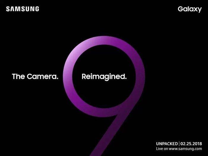 samsung galaxy s9 evento convite