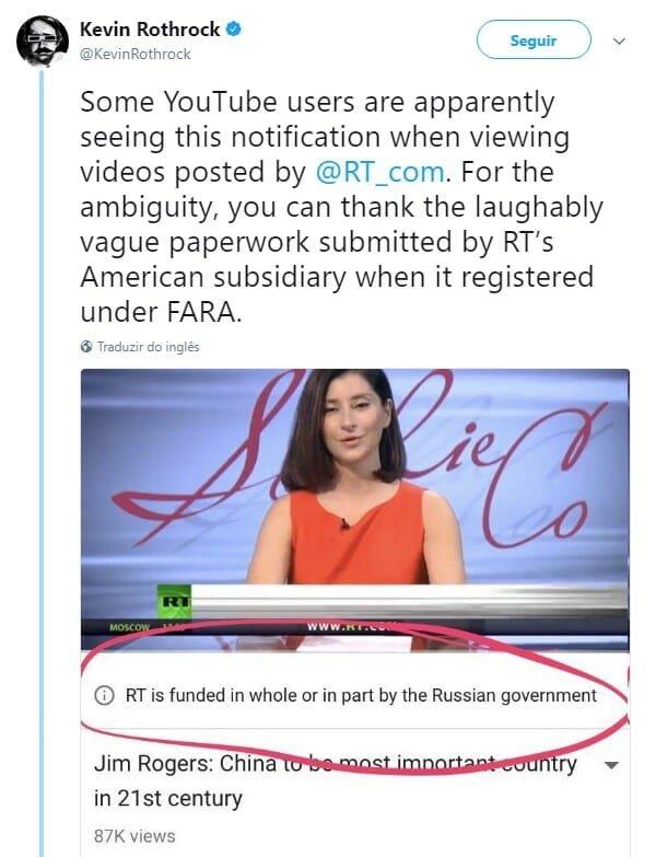 exemplo notificação vídeo politico