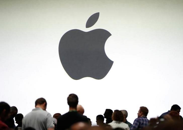 apple logo loja