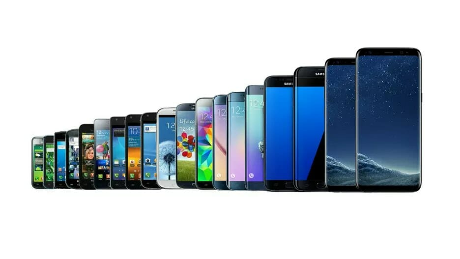 samsung galaxy linha smartphones