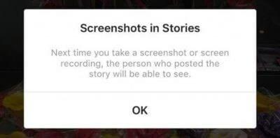 exemplo alerta instagram stories