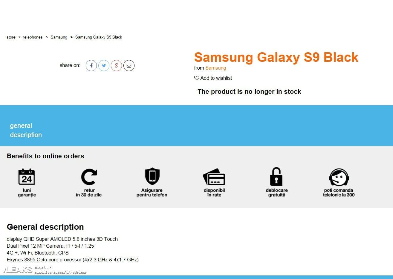 imagem site galaxy s9