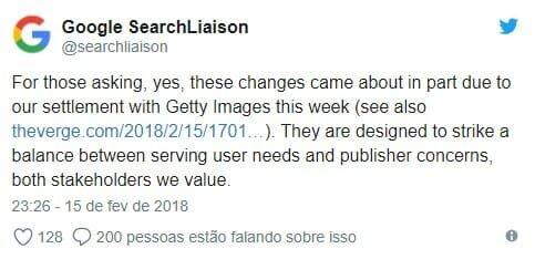 tweet da Google