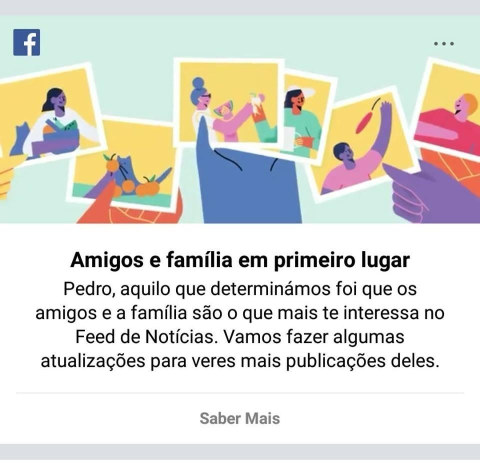 facebook amigos e familia