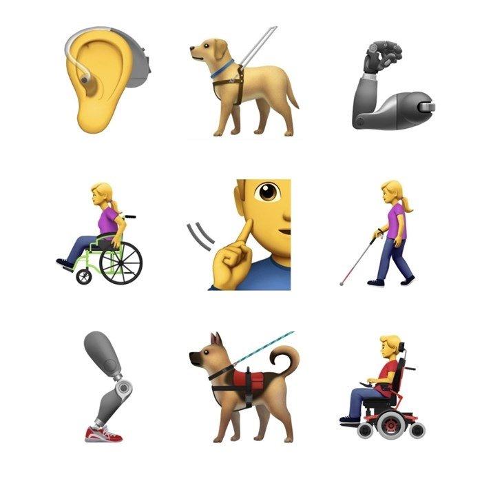 exemplos de emojis pessoas deficiencia