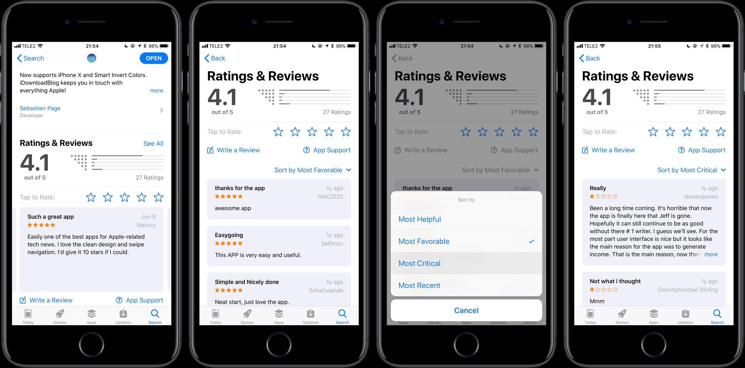classificação app store apple