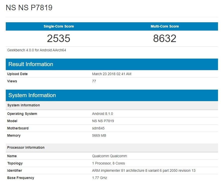 teste benchmark realizado OnePlus 6
