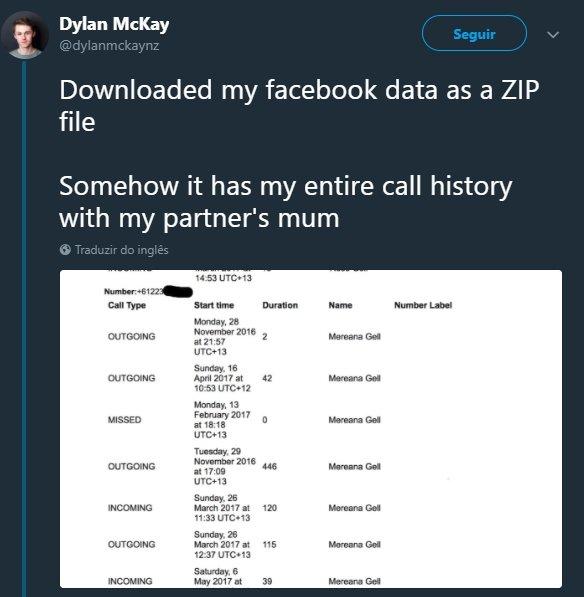 facebook recolha dados