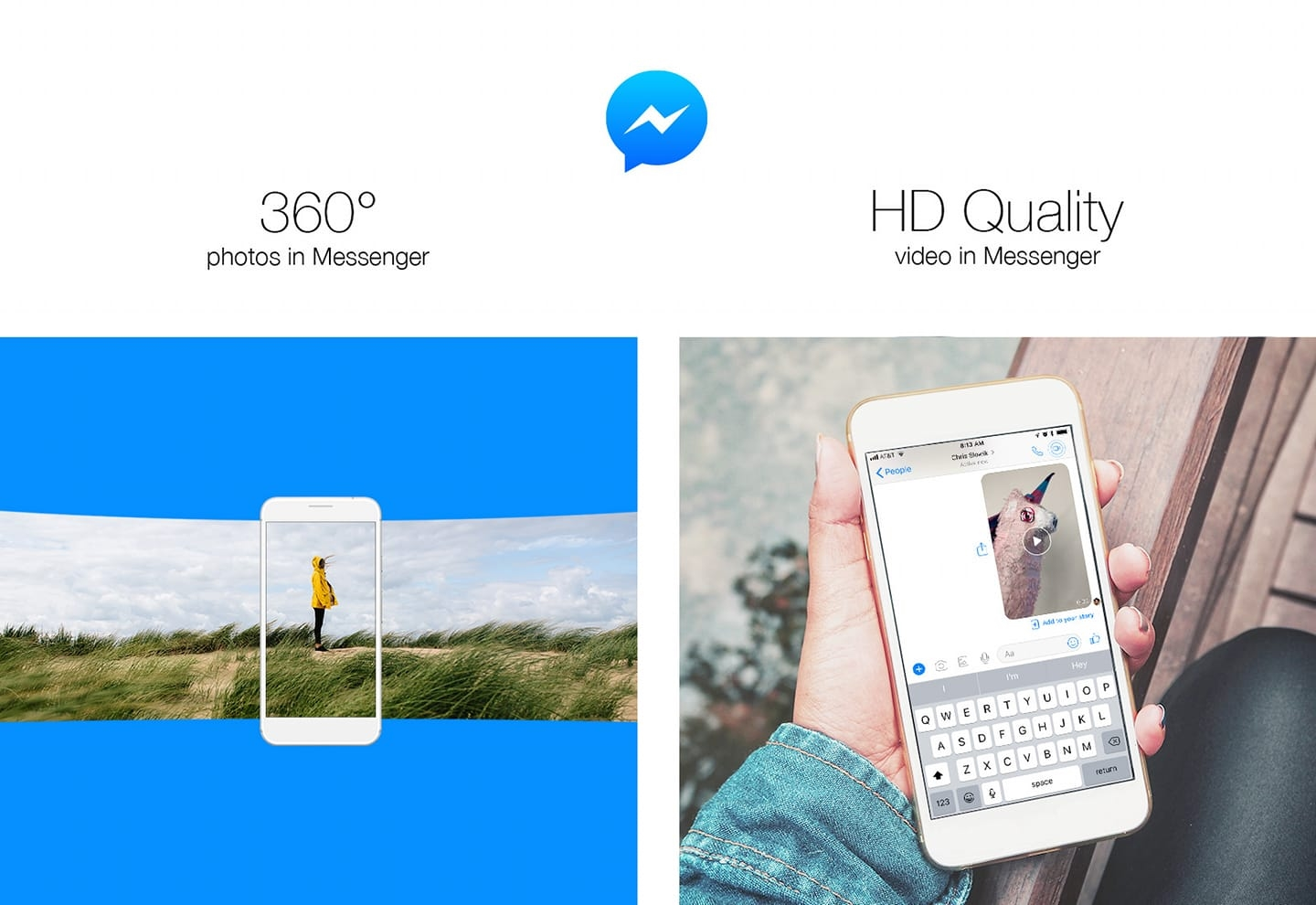 Messenger 360 e vídeo HD
