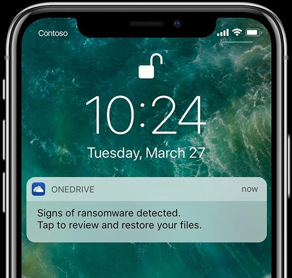 notificação alerta ransomware