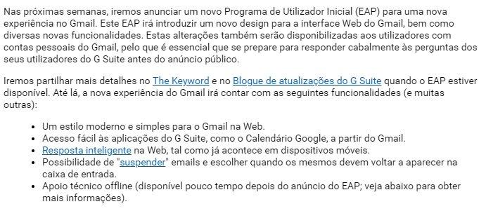 mesagem email google