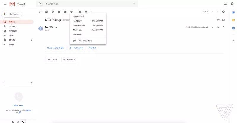 imagem nova interface gmail